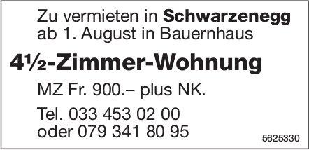 4½-Zimmer-Wohnung in Schwarzenegg zu vermieten