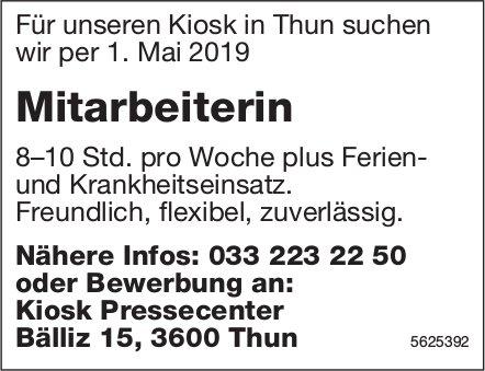 Mitarbeiterin, Kiosk Pressecenter, Thun, gesucht
