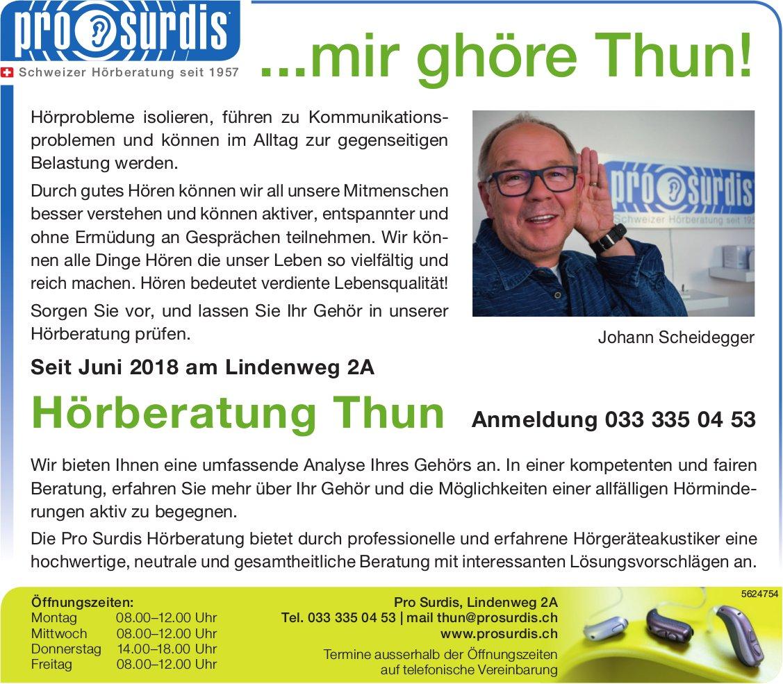 Pro Surdis, Thun - ...mir ghöre Thun!
