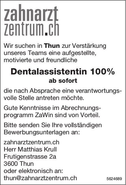 Dentalassistentin 100%, zahnarztzentrum.ch, Thun, gesucht