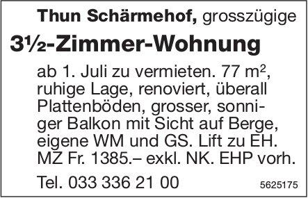3½-Zimmer-Wohnung in Thun Schärmehof zu vermieten