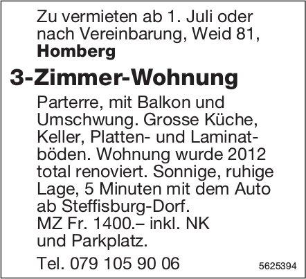 3-Zimmer-Wohnung in Homberg zu vermieten