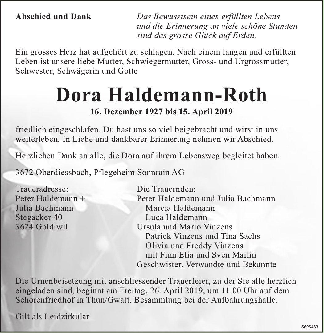 Haldemann-Roth Dora, April 2019 / TA + DS