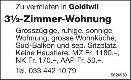 3½-Zimmer-Wohnung in Goldiwil zu vermieten
