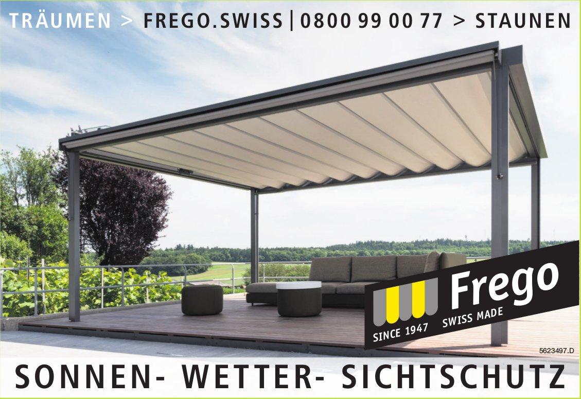 Frego Swiss - Sonnen, Wetter, Sichtsschutz