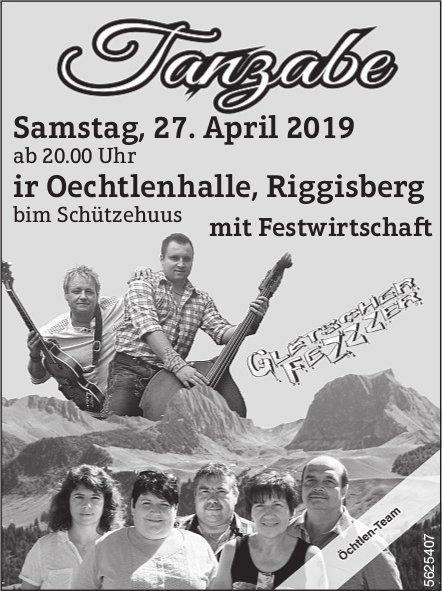 Tanzabe, ir Oechtlenhalle, Riggisberg am 27. April