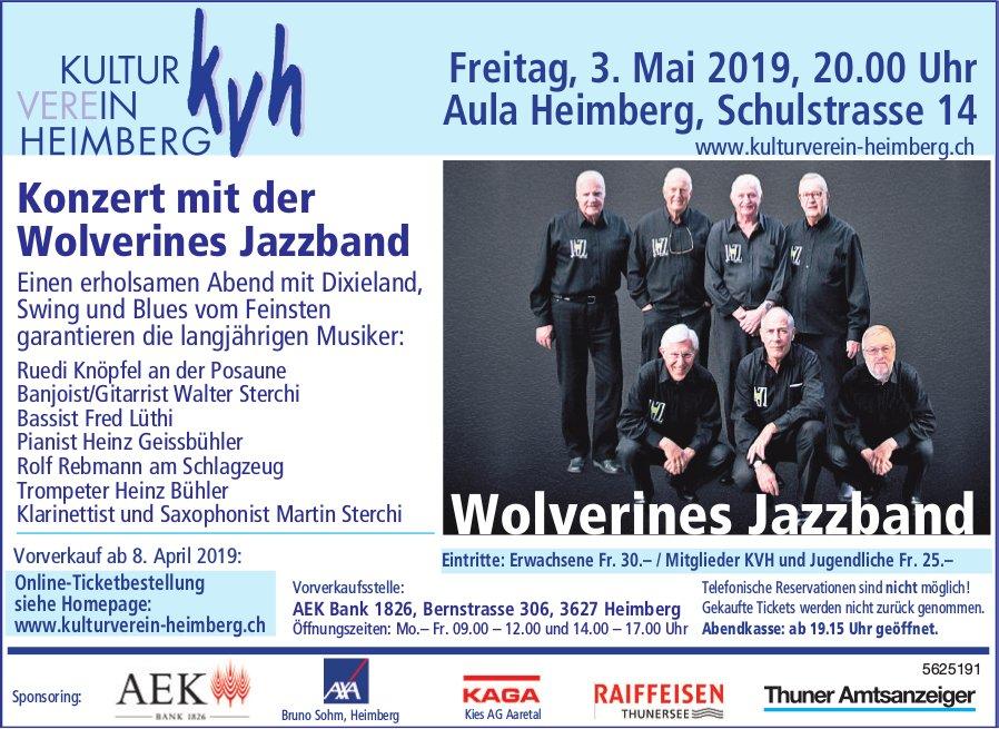KVH - Konzert mit der Wolverines Jazzband am 3. Mai