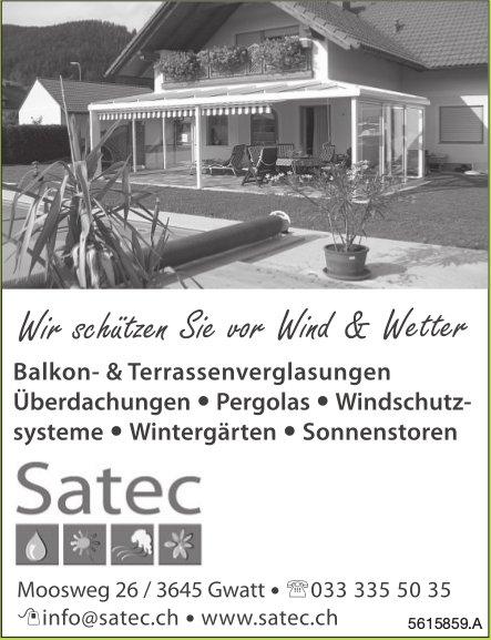 Satec - Wir schützen vor Wind & Wetter