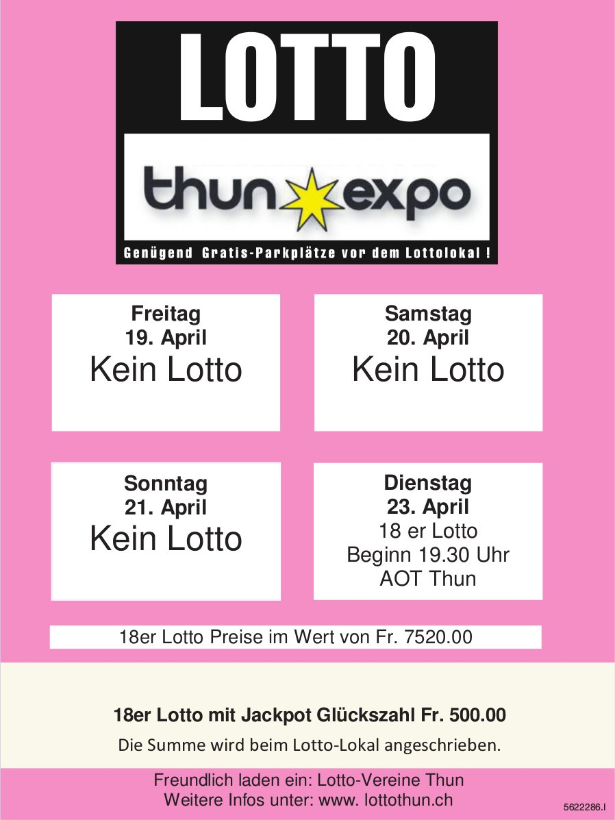 Thun Expo, 23. April