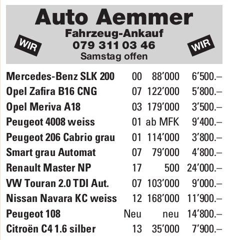 Auto Aemmer Fahrzeug-Ankauf - Occasionenmarkt