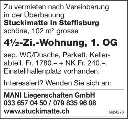4½-Zi.-Wohnung, 1. OG in der Überbauung Stuckimatte in Steffisburg zu vermieten