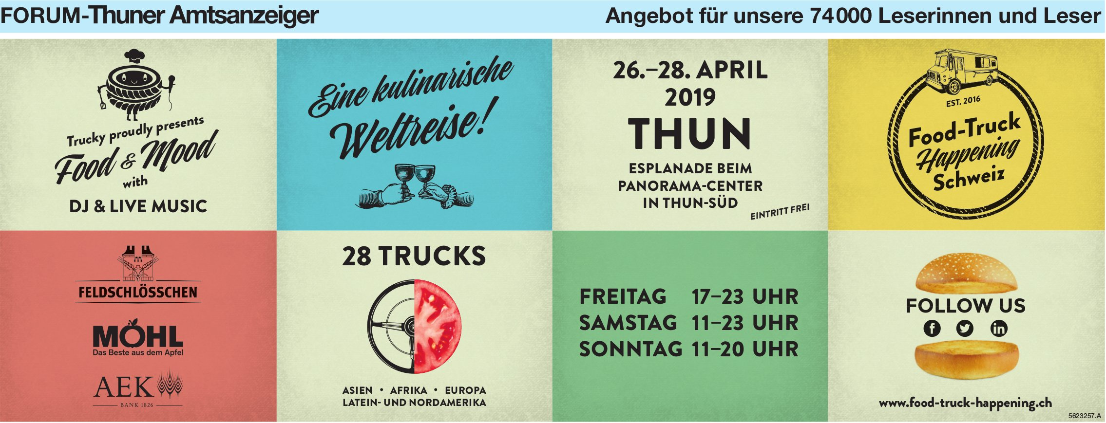 Forum-Thuner Amtsanzeiger - Food-Truck Happening, Thun, 26.-28. April