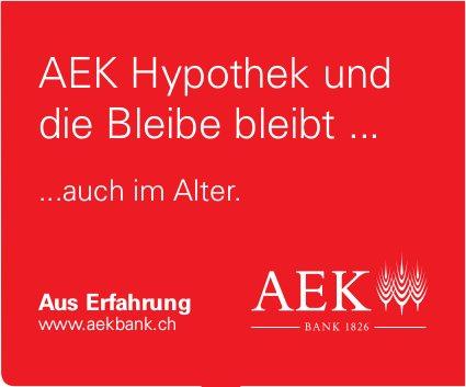 AEK Bank - AEK Hypothek und die Bleibe bleibt...auch im Alter.