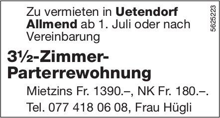 3½-Zimmer- Parterrewohnung in Uetendorf Allmend zu vermieten