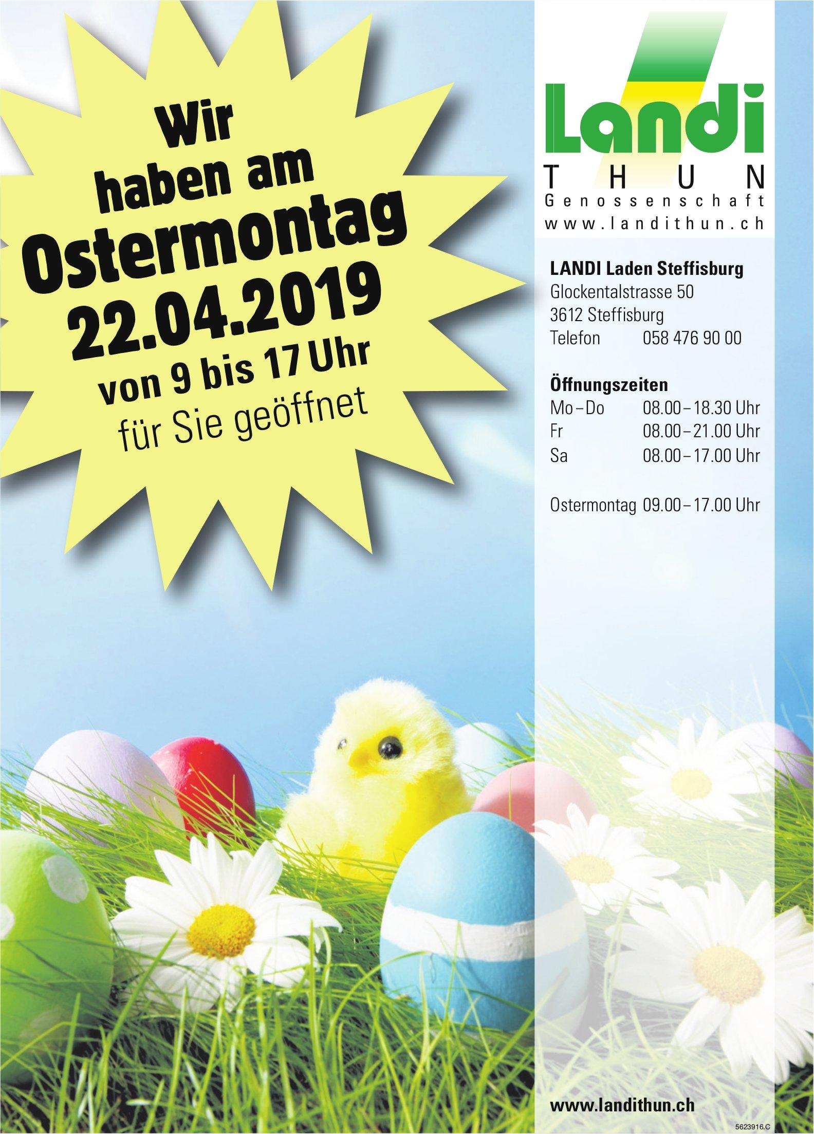 LANDI Laden Steffisburg - Wir haben am Ostermontag, 22. April, geöffnet
