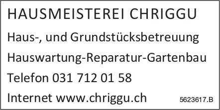 HAUSMEISTEREI CHRIGGU - Haus-, und Grundstücksbetreuung, Hauswartung-Reparatur-Gartenbau
