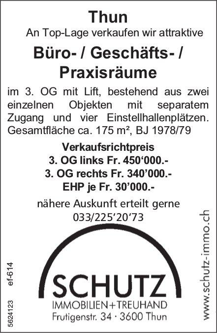 Büro- / Geschäfts- / Praxisräume in Thun zu verkaufen
