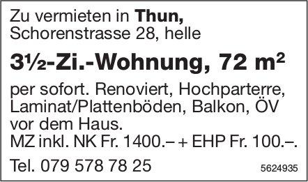 3½-Zi.-Wohnung, 72 m2 in Thun zu vermieten