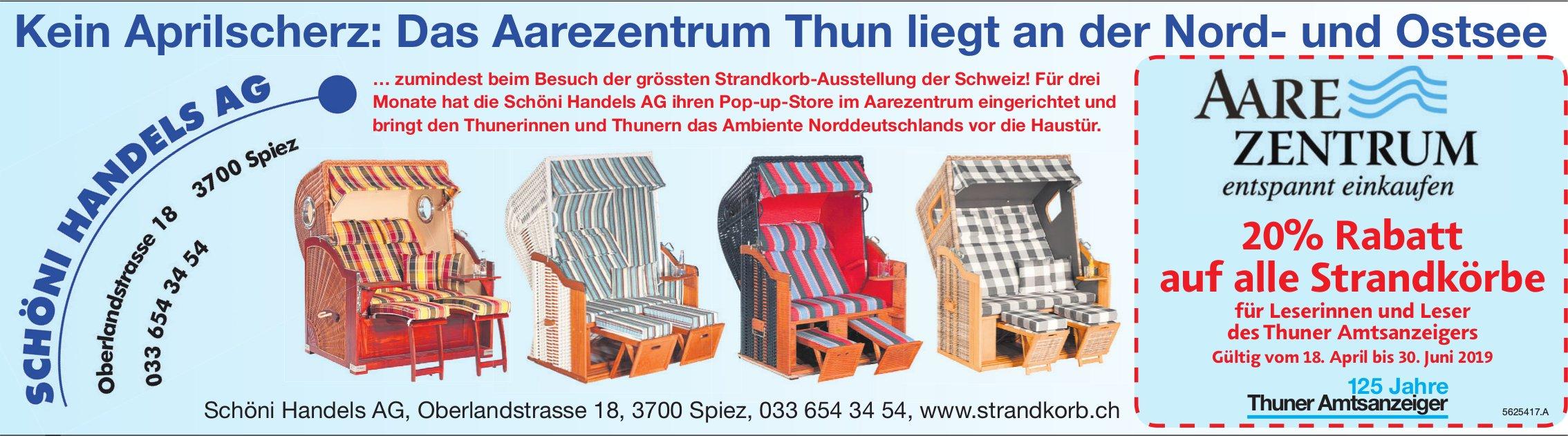 Schöni Handels AG, Spiez - Kein Aprilscherz: Das Aarezentrum Thun liegt an der Nord- und Ostsee