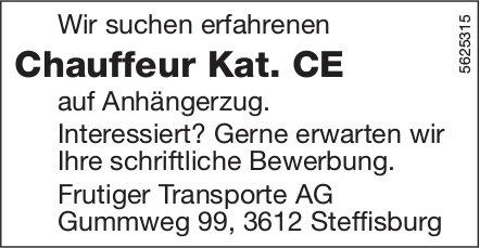 Chauffeur Kat. CE, Frutiger Transporte AG, Steffisburg, gesucht
