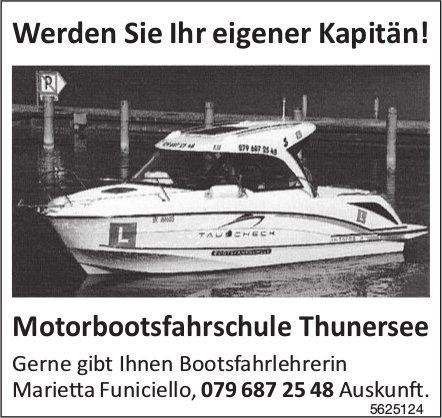 Werden Sie Ihr eigener Kapitän! Motorbootsfahrschule Thunersee