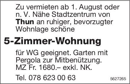 5-Zimmer-Wohnung n. V. Nähe Stadtzentrum von Thun zu vermieten