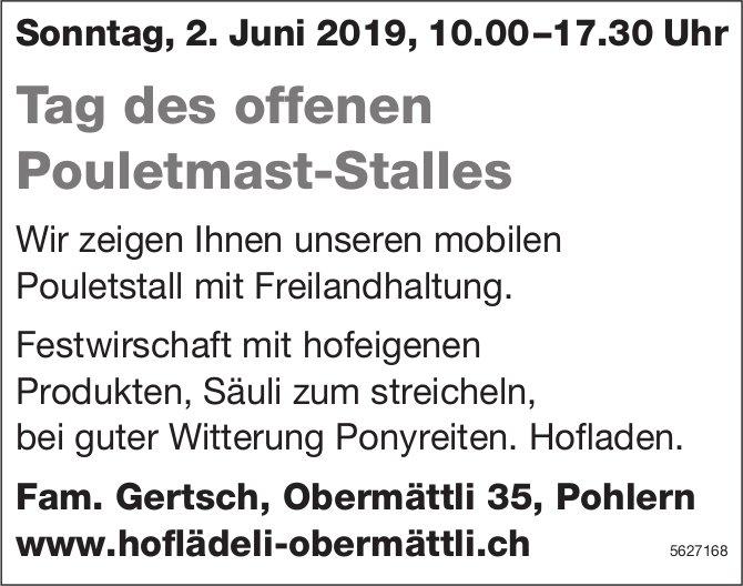 Hoflädeli Obermättli - Tag des offenen Pouletmast-Stalles am 2. Juni
