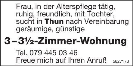 3 – 3½-Zimmer-Wohnung in Thun gesucht