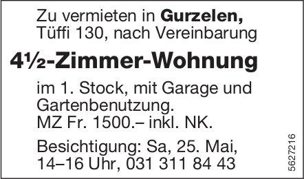4½-Zimmer-Wohnung in Gurzelen zu vermieten / Besichtigung: Sa, 25. Mai