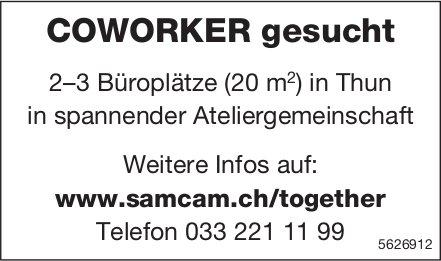 COWORKER gesucht: 2–3 Büroplätze (20 m2) in Thun