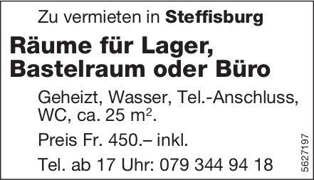 Räume für Lager, Bastelraum oder Büro in Steffisburg zu vermieten