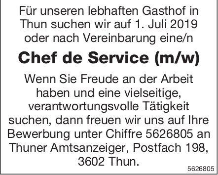 Chef de Service (m/w), lebhafter Gasthof, Thun, gesucht