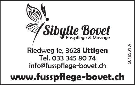 Sibylle Bovet, Fusspflege & Massage
