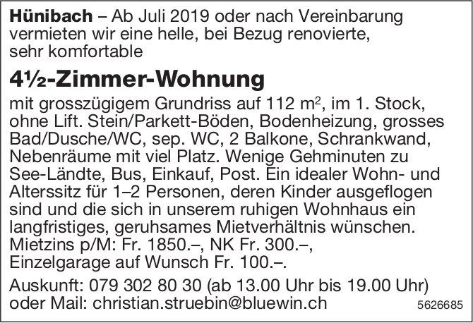 4½-Zimmer-Wohnung in Hünibach zu vermieten