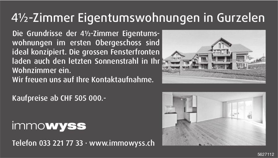4½-Zimmer Eigentumswohnungen in Gurzelen zu verkaufen