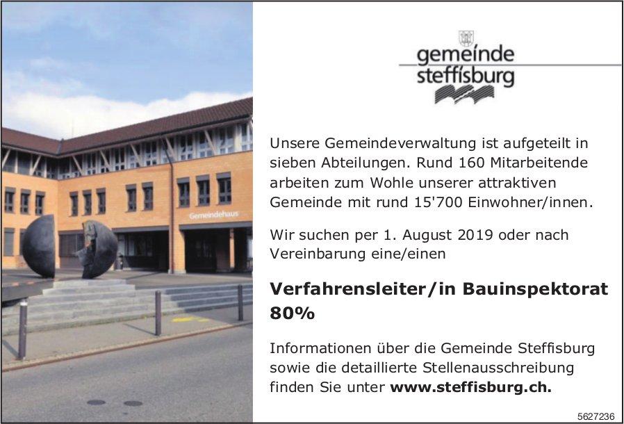 Verfahrensleiter/in Bauinspektorat 80%, Gemeinde Steffisburg, gesucht