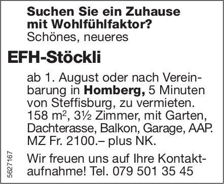 EFH-Stöckli, 3.5 Zimmer, in Homberg zu vermieten