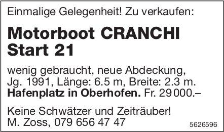 Motorboot CRANCHI Start 21 zu verkaufen