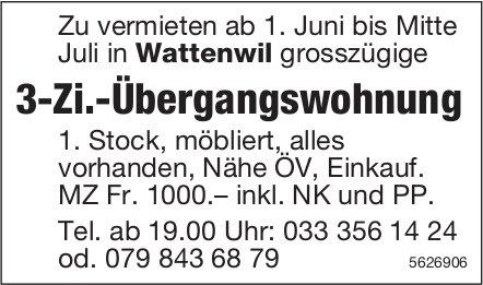 3-Zi.-Übergangswohnung in Wattenwil zu vermieten