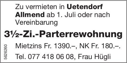 3½-Zi.-Parterrewohnung in Uetendorf Allmend zu vermieten