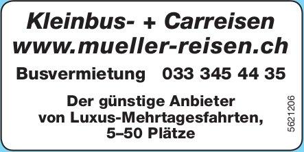 Müller Reisen - Kleinbus- + Carreisen