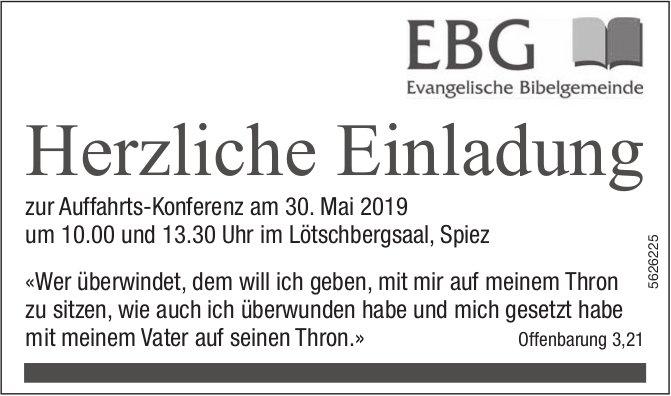 EBG - Auffahrts-Konferenz am 30. Mai