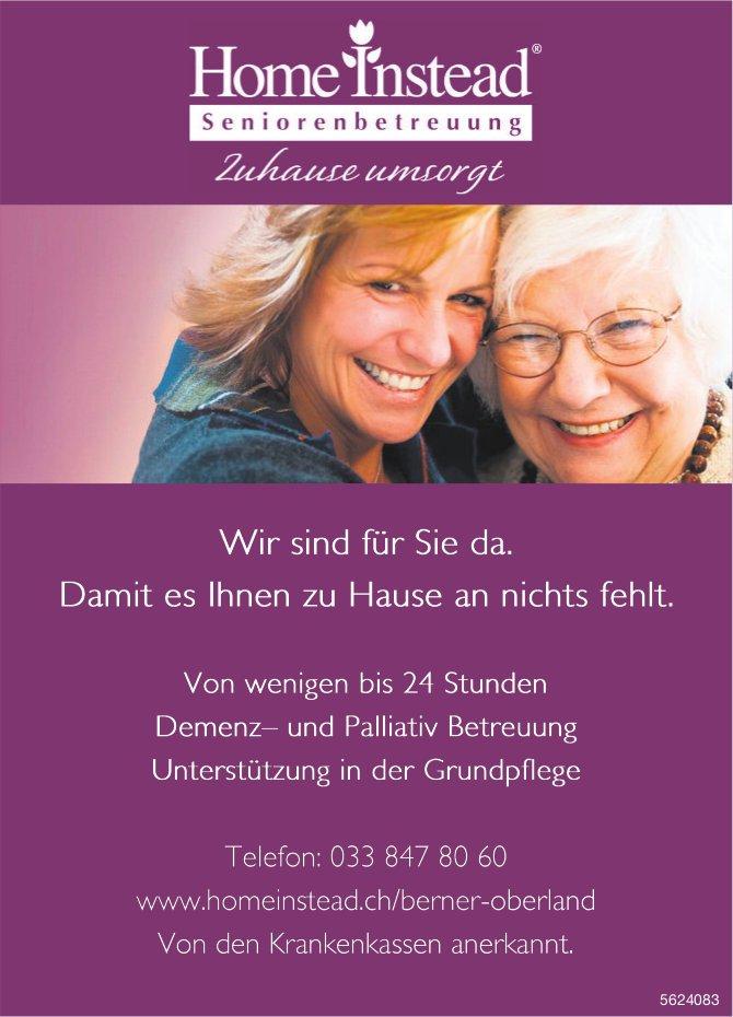Home Instead Seniorenbetreuung - Wir sind für Sie da. Damit es Ihnen zu Hause an nichts fehlt.