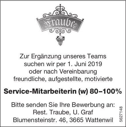 Service-Mitarbeiterin (w) 80–100%, Rest. Traube, Wattenwil, gesucht