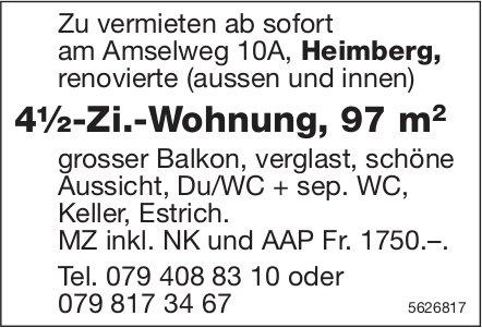 4½-Zi.-Wohnung, 97 m2 in Heimberg zu vermieten