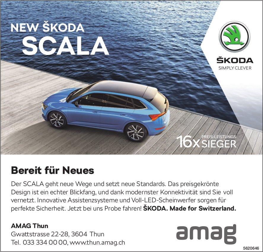 AMAG Thun - Bereit für Neues, NEW SKODA SCALA