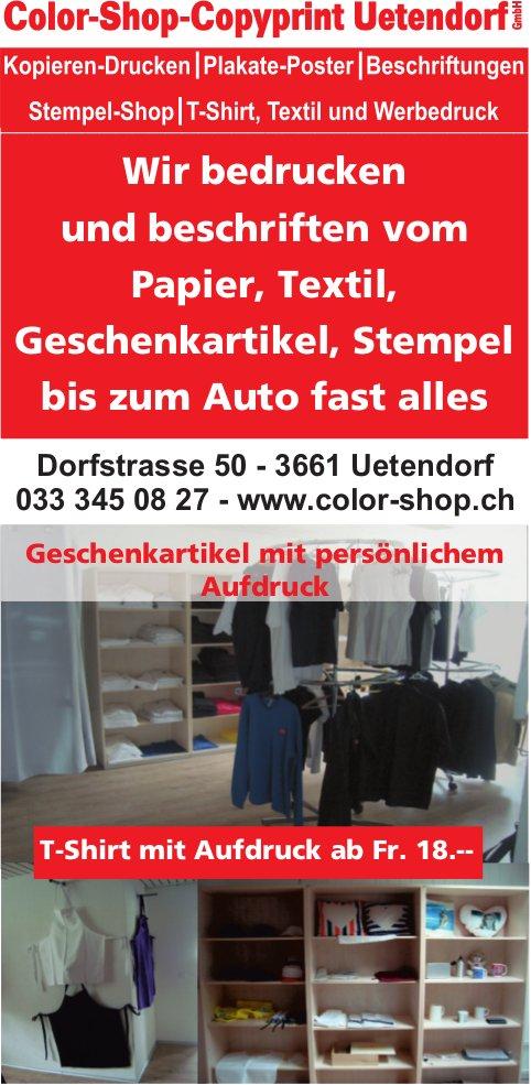 Color-Shop-Copyprint Uetendorf - Wir bedrucken und beschriften vom Papier bis zum Auto fast alles