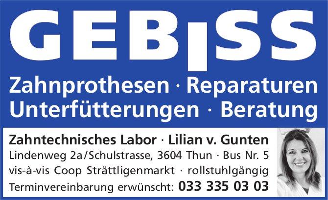 Zahntechnisches Labor, Lilian v. Gunten, Thun - Zahnprothesen, Reparaturen...
