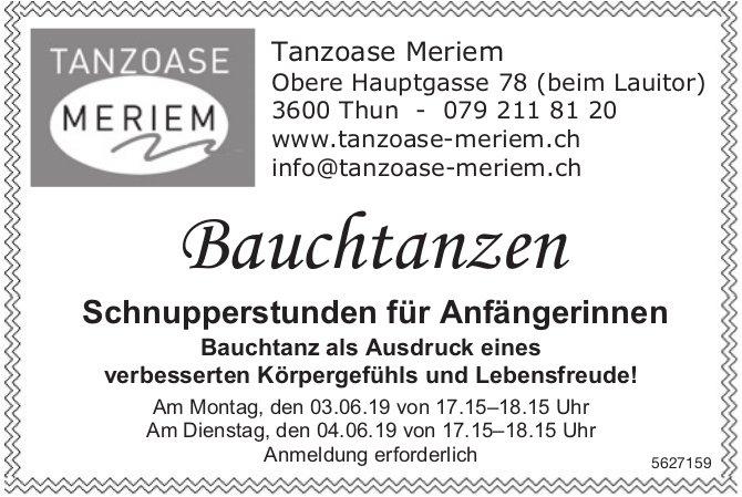 Tanzoase Meriem - Bauchtanzen, Schnupperstunden für Anfängerinnen, 3. + 4. Juni