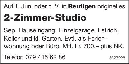 2-Zimmer-Studio in Reutigen zu vermieten